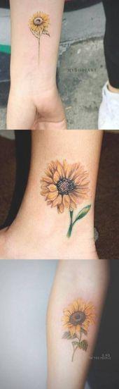 Tattoo Sunflower Foot Tatoo 26 ideas for 2019 – #