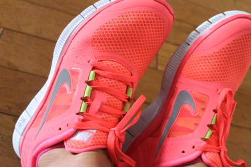 nike free tr fit 2 womens running shoes pink silver