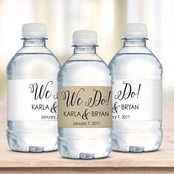 a bridal shower water bottle label