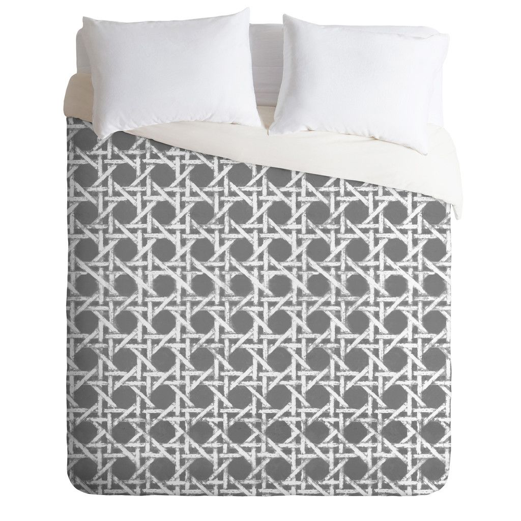 Hadley Hutton Woven Grey Duvet Cover | DENY Designs Home Accessories