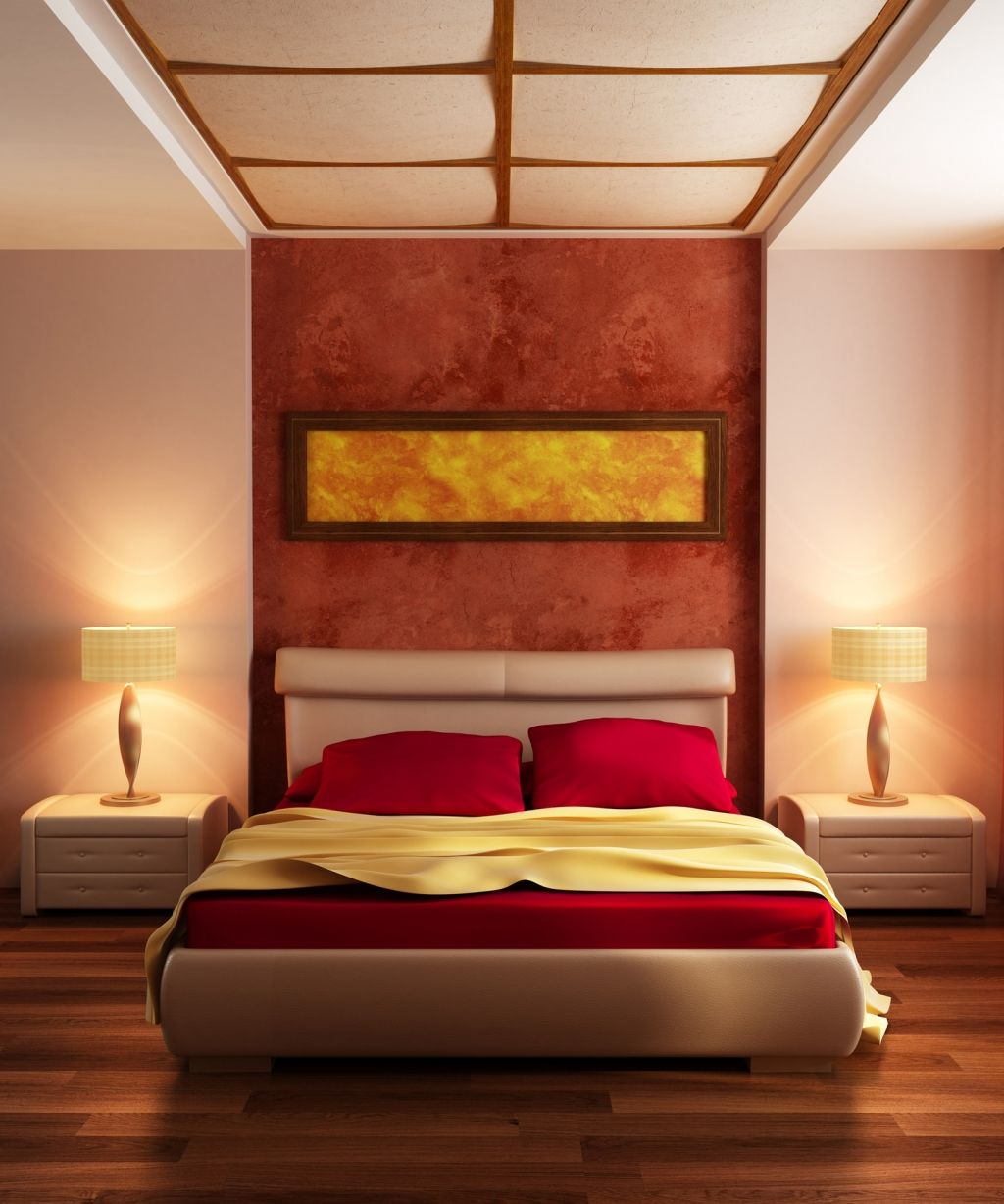 Bedroom Lovely Modern Red Bedroom With Classy Lamp Shade And Minimalist  Laminated Floor 21 Pictures Of