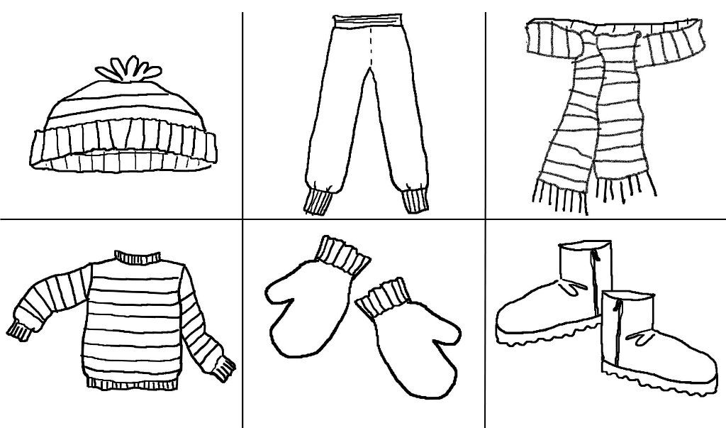 Printables Clothes Google Zoeken Coloring Pages Winter Fall