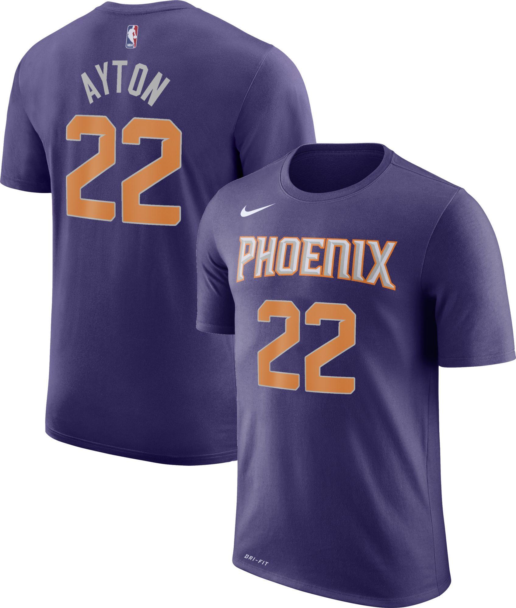 340cdba5d22 Nike Youth Phoenix Suns DeAndre Ayton  22 Dri-FIT Purple T-Shirt ...