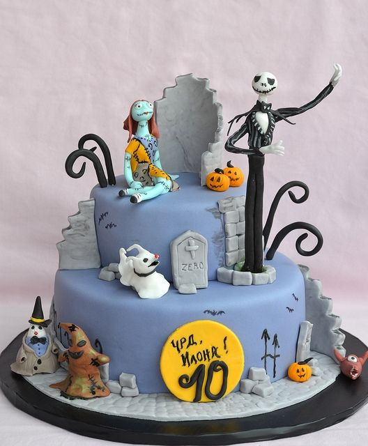 Cute Little Nightmare Before Christmas #cake | Confections ...