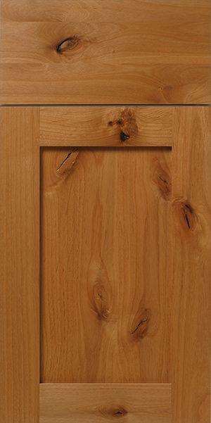Rustic Knotty Alder Shaker Cabinet Door Walzcraft Can