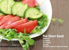 Pea Shoots Salad | Jodie Campbell.ca