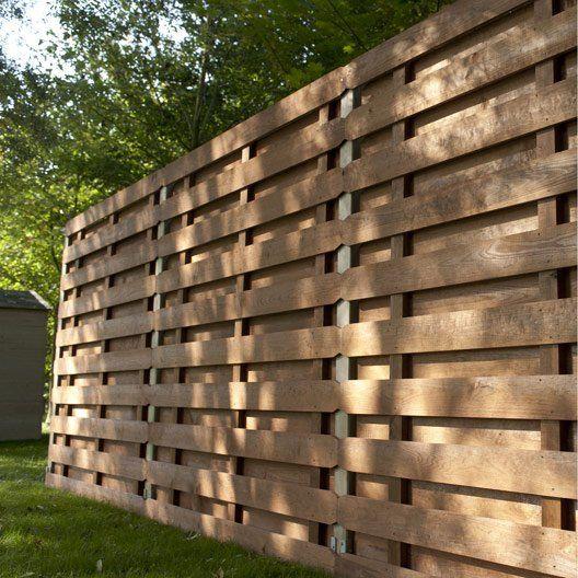Panneau Bois Occultant Oxford L 180 Cm X H 180 Cm Marron Palissade Bois Brise Vue Jardin