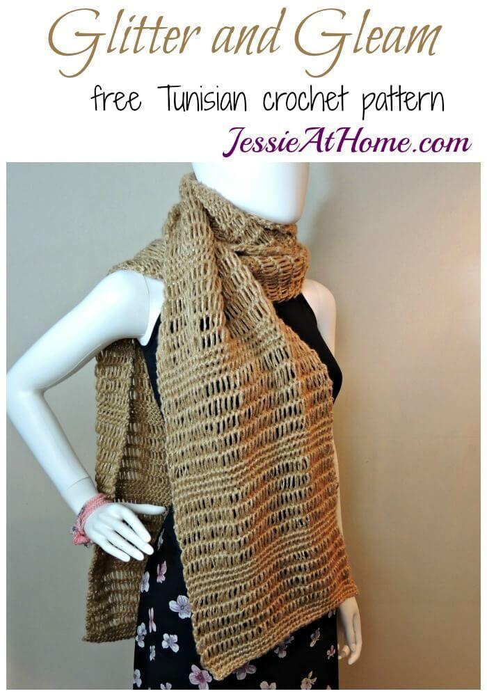 Glitter and Gleam Super Scarf - a free Tunisian crochet pattern ...
