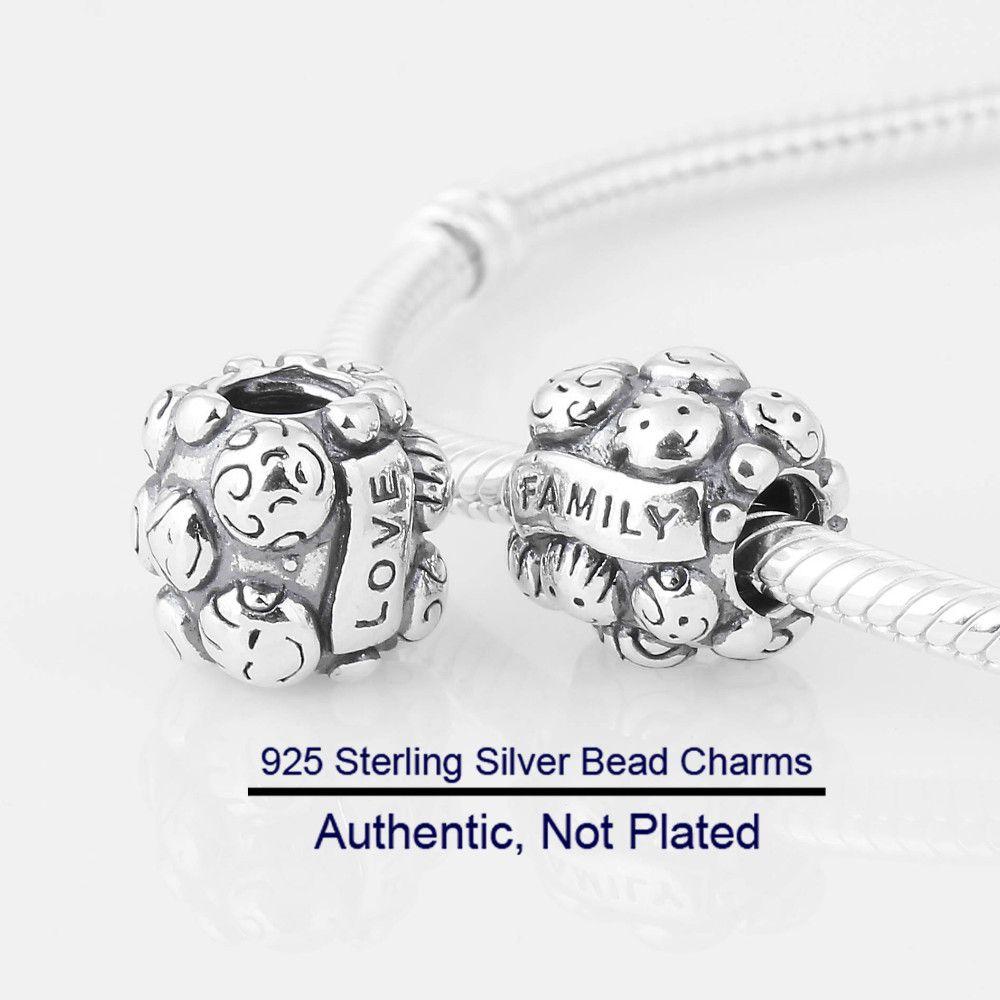 Pandora Women's 925 Sterling Silver Family Charm Bead XMfmMBZ