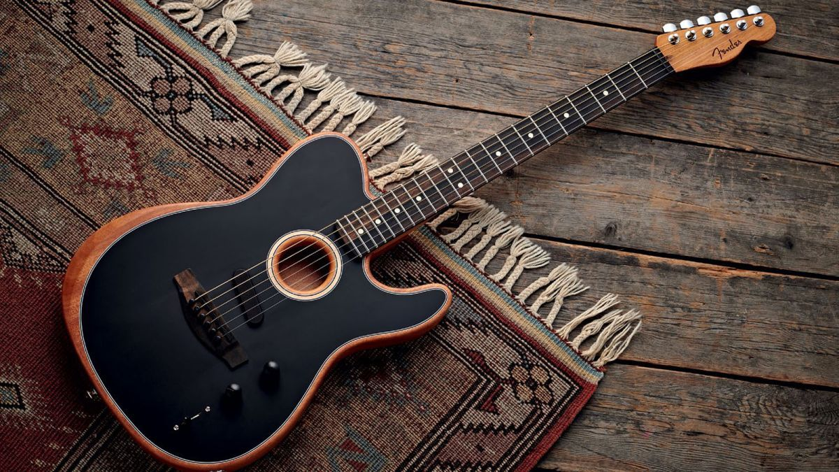Review Fender S American Acoustasonic Telecaster Is A New Benchmark In Acoustic Electric Design Guitarworld Htt Fender American Acoustic Electric Telecaster