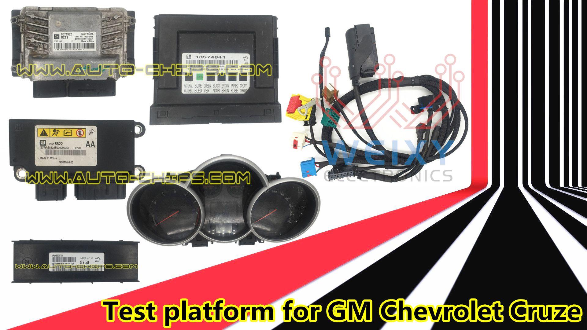 hight resolution of gm chevrolet cruze test platform enable programing keys on the bench restore airbag ecm