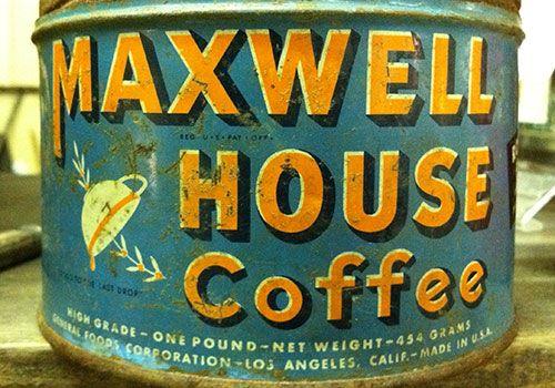 Vintage Maxwell Coffee House Tin Maxwell House Coffee Coffee Coffee Uses