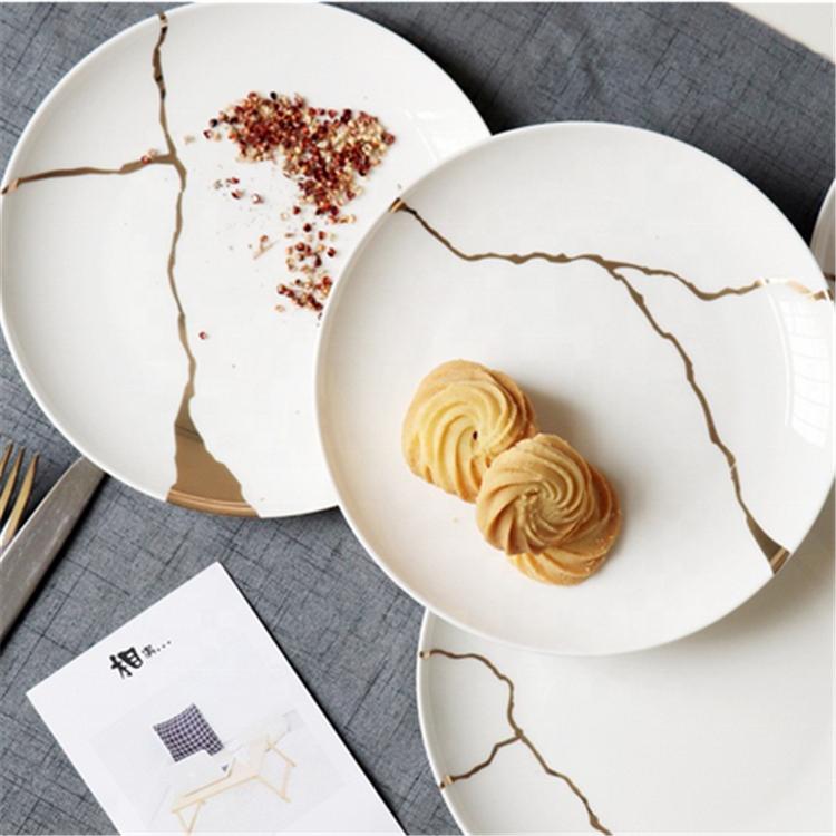 New Products Wedding Dessert Cookie Plates Cheap Bulk Porcelain