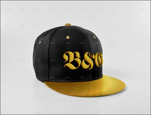 00c6ba379c3 Cap Photoshop PSD Design SnapBack Cup Mockup Photoshop PSD has Front  Embroidered Lettering which realistic Cap model.The Cap design can modify  colors.