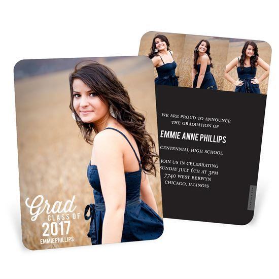Favorite Photo Vertical -- Graduation Announcements \ Invitations - graduation announcement template