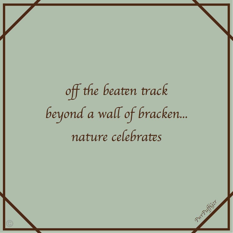 Haiku Bracken Wall Haiku 5 7 5s Micro Poems Haiku