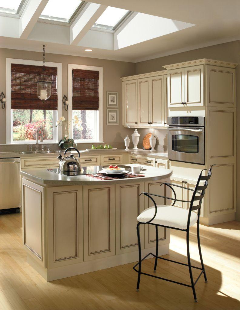 Ivory kitchen with Mocha Glaze from Homecrest