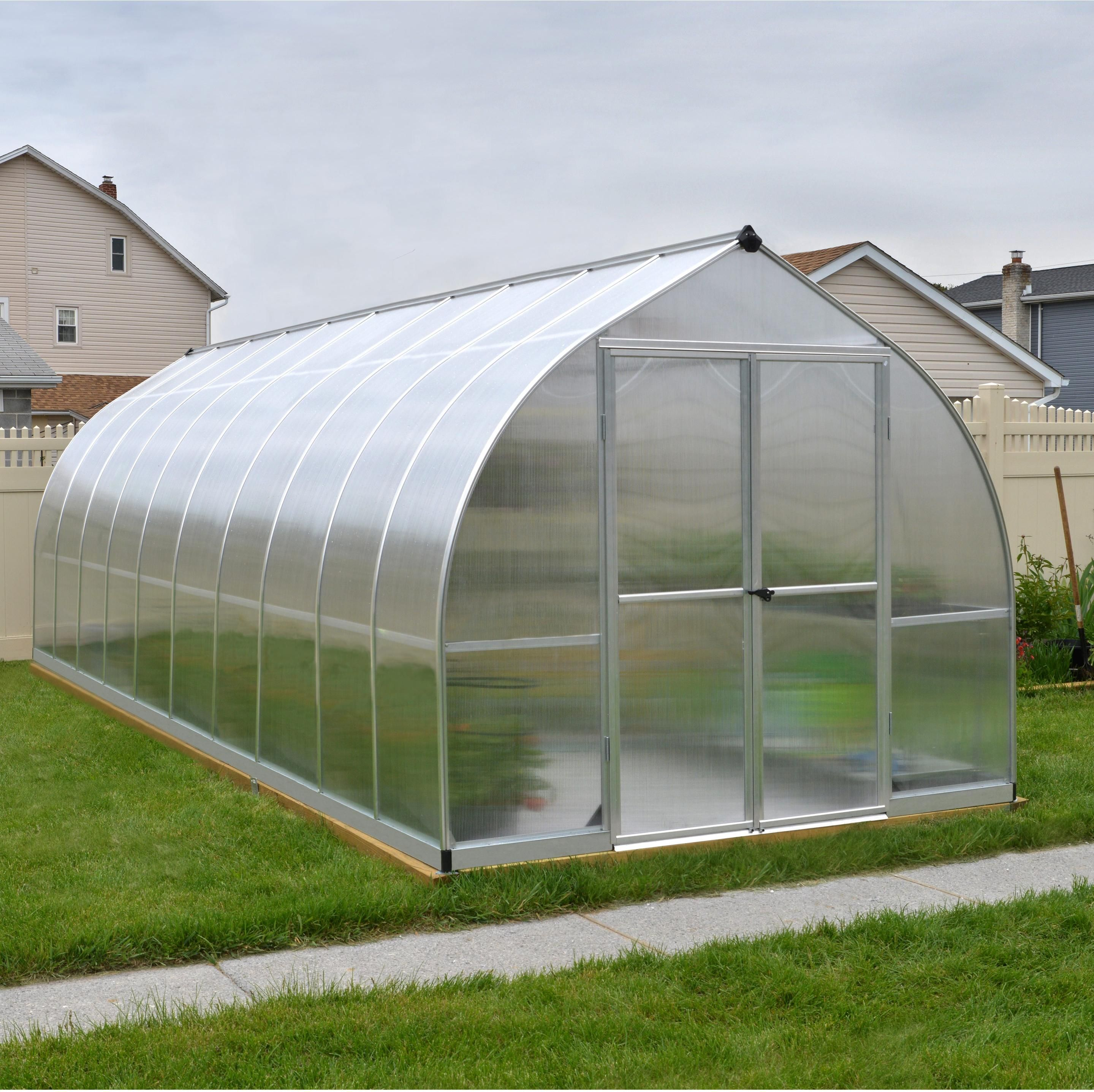 Serre De Jardin Bella 14 M² Aluminium Et Polycarbonate