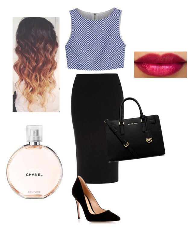 """""""Untitled #29"""" by emilykb1219 ❤ liked on Polyvore featuring Roland Mouret, Alice + Olivia, Gianvito Rossi, MICHAEL Michael Kors and Chanel"""