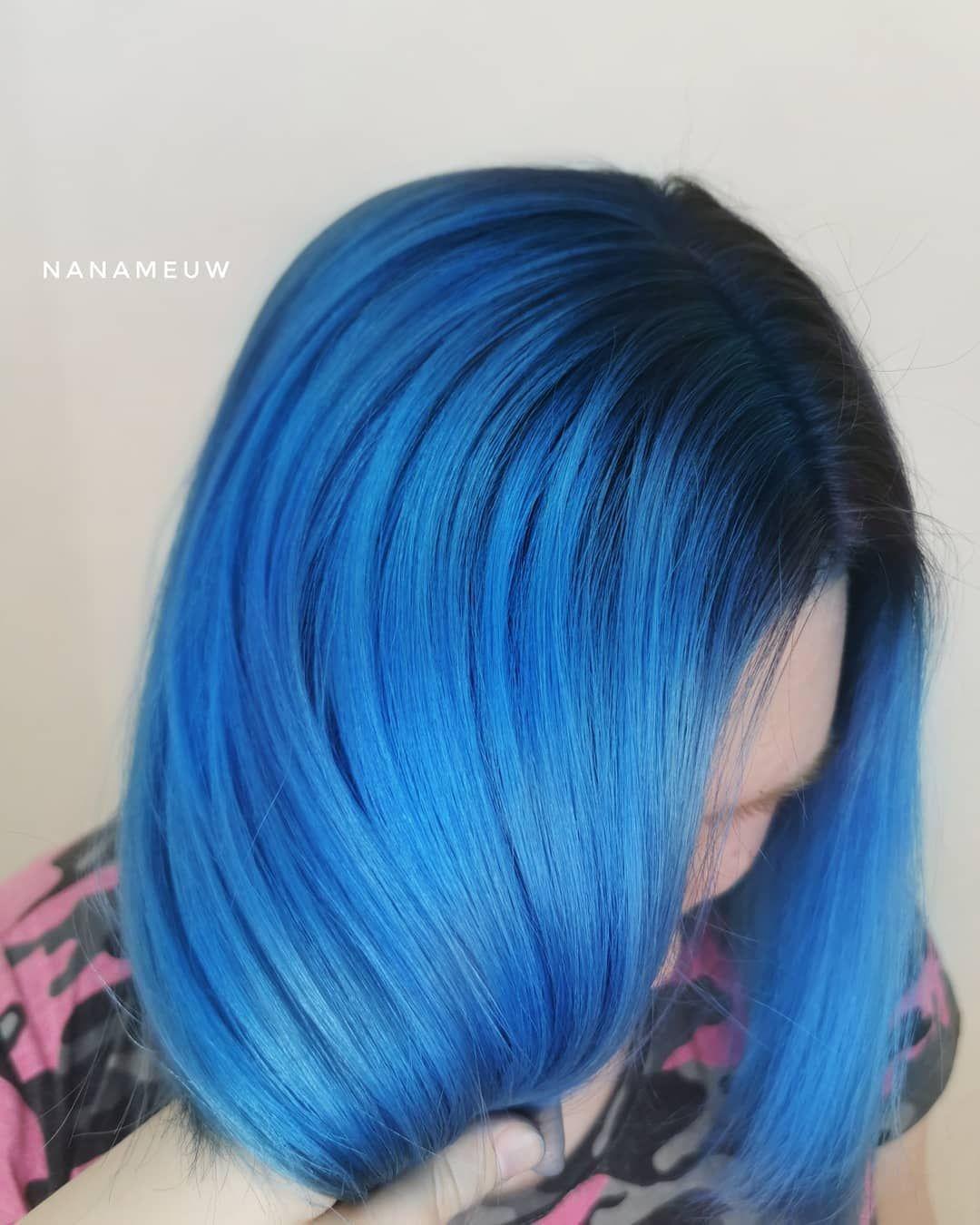 Sky Blue In 2020 Hair Shadow Blue Hair Dark Hair Inspo Color