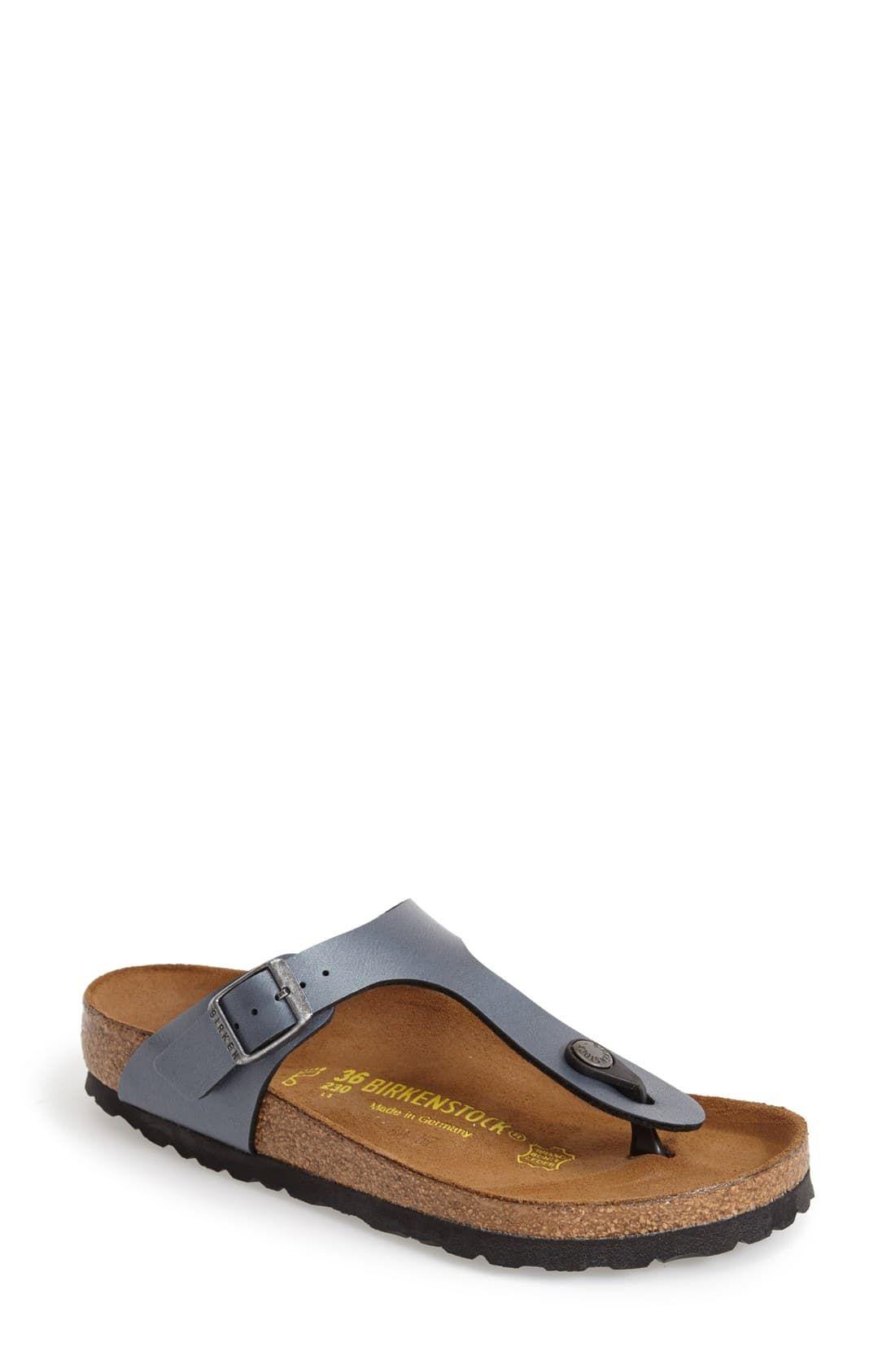 2014 New Leather Slippers Birkenstock Gizeh Women Flat Sandals Platformfor Cheap Flip Flops Gladiator Cork Sandals Red Wedges Summer Shoes From