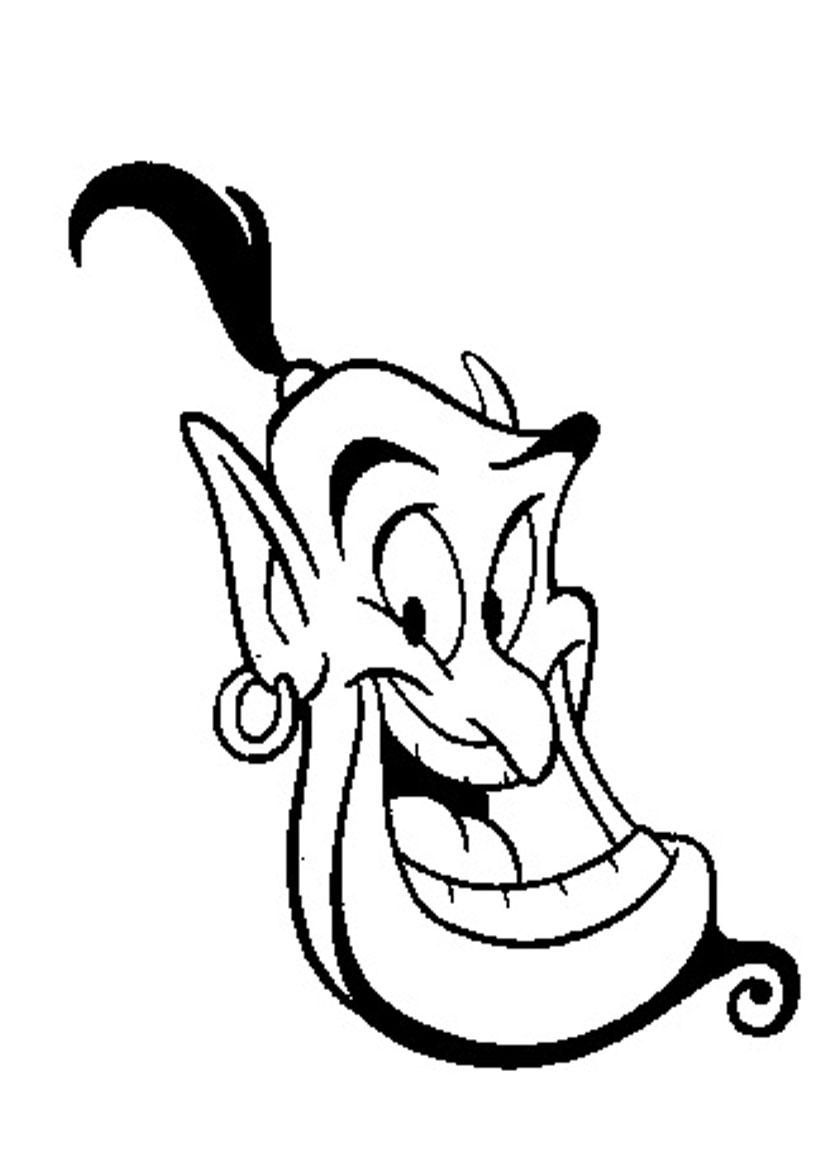 51 Genie Coloring Pages Disney Coloring Pages Disney Printables Colorful Drawings