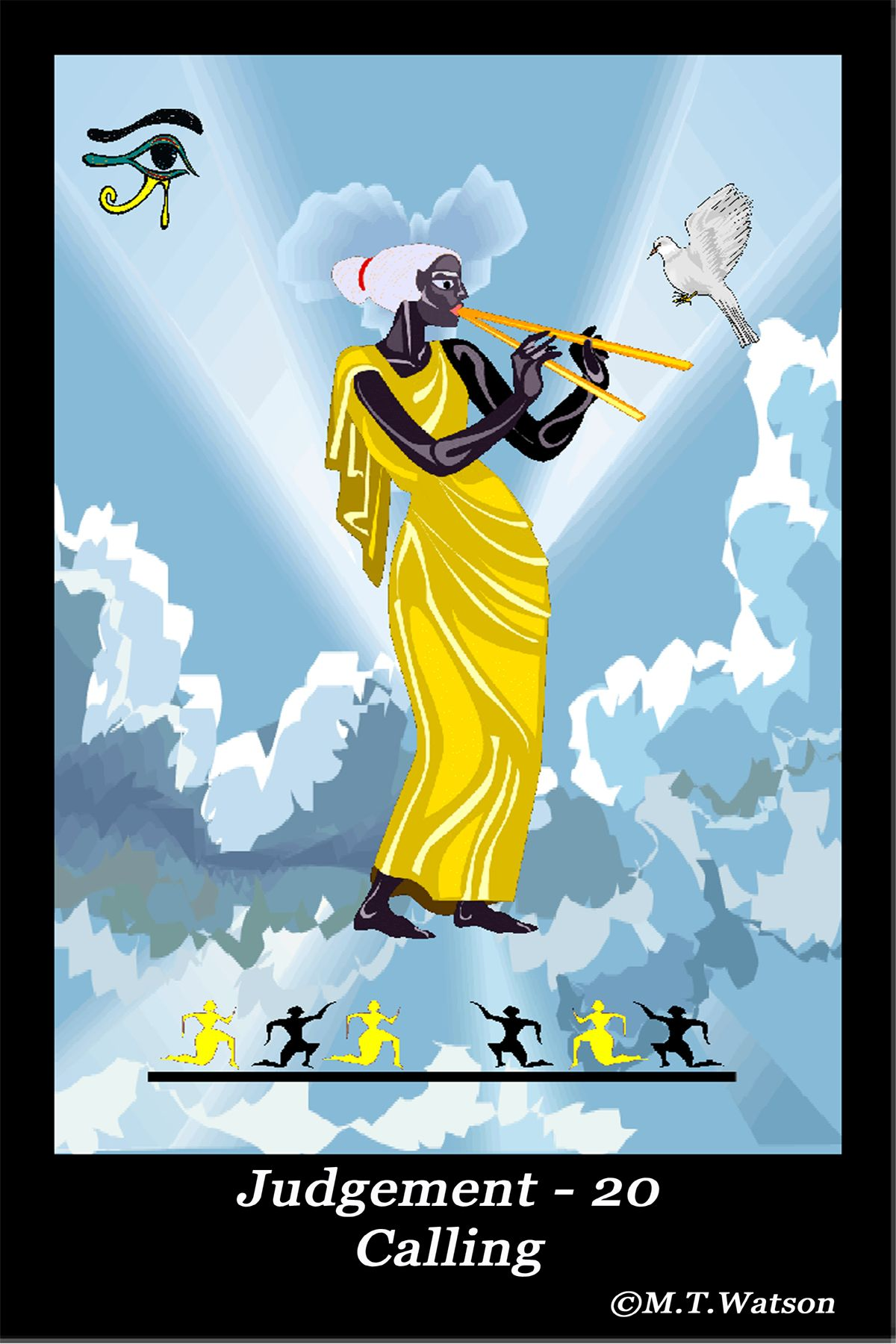 Judgement Tarot Card From The Multicultural Lucid Tarot Deck Sold At Etsy Shop Oakwoodview At Https Judgement Tarot Card Major Arcana Cards Tarot Major Arcana