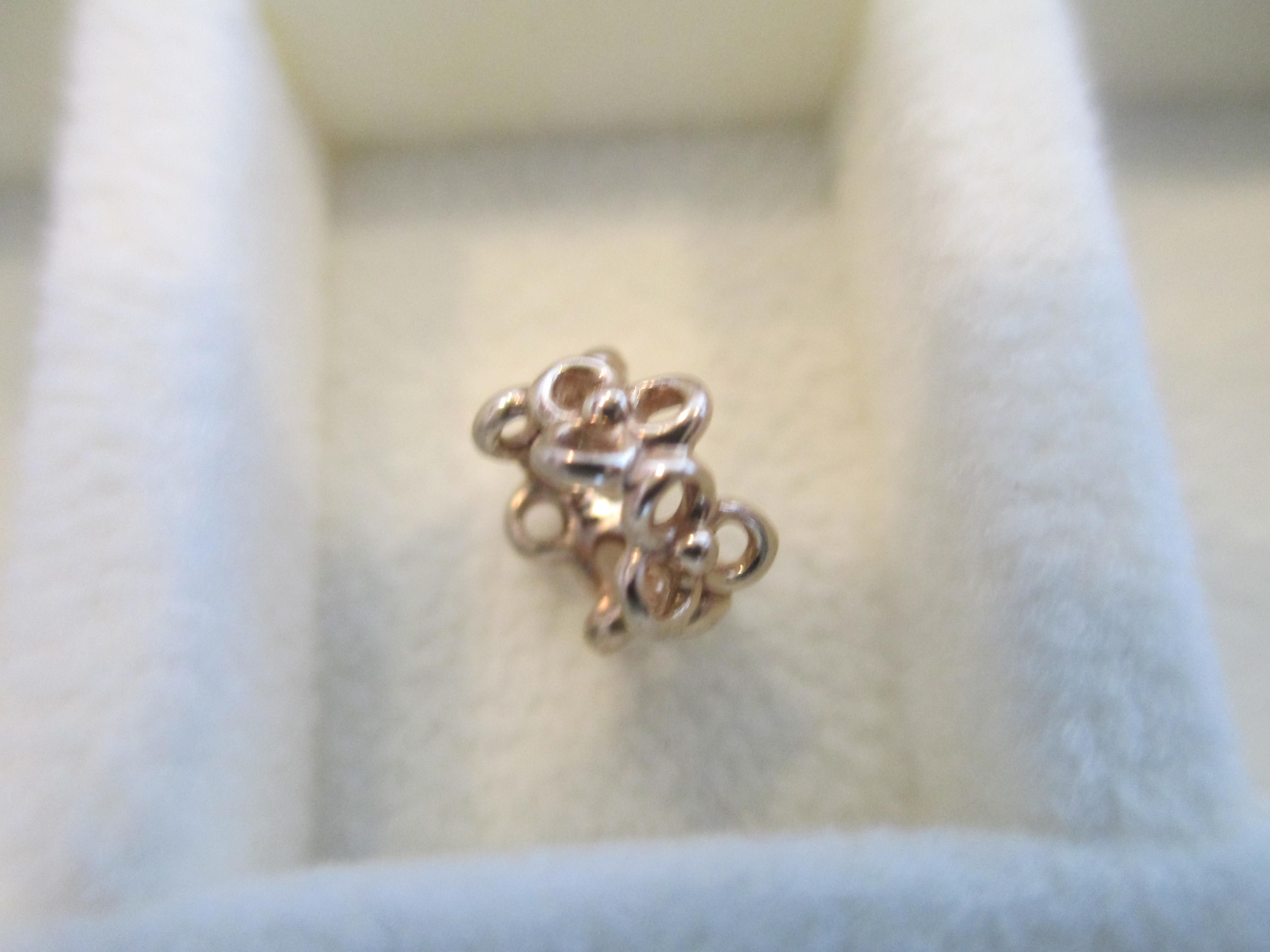 67e32da30 Pandora 750451 Trinity Flower Spacer 14K Solid Gold Bead Charm. Free  shipping and guaranteed authenticity