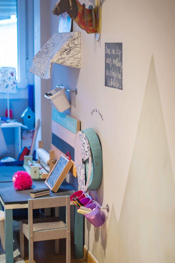 Decoración de paredes para niños, montañas de pizarra, kids, room - decoracion de paredes