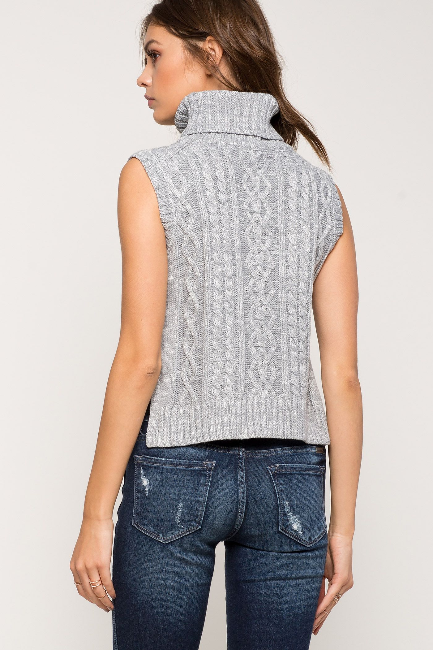 Women's Sweaters | Cropped Cable Knit Sweater | A'GACI | Beate ...