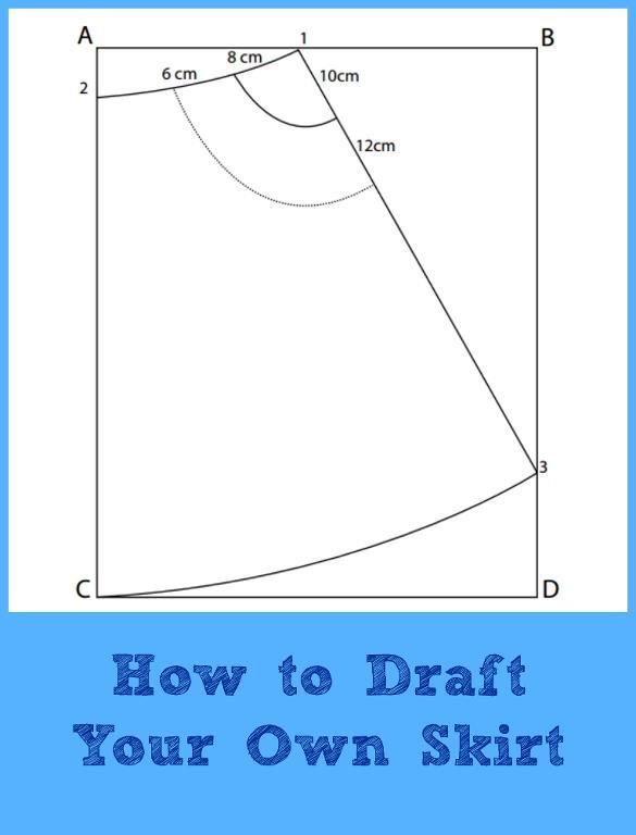Drafting Tutorial:  A-line Skirt | | On the Cutting Floor: Printable pdf sewing patterns and tutorials for women