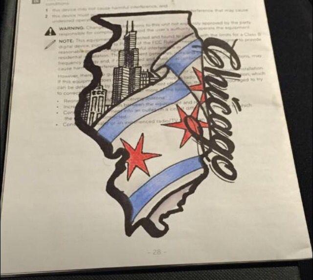 Chicago Chicago Tattoo Chicago Flag Tattoo Chicago Skyline Tattoo