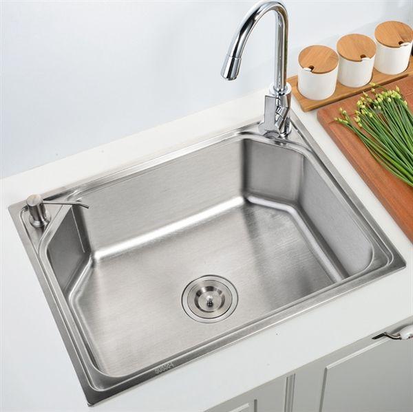 Einbauspüle Edelstahl Spülbecken Modern für Küche S6045B