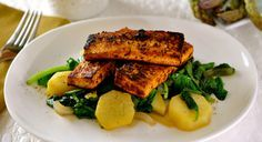 Easy Sugar Glazed Tofu with Kale & Yams. #Vegan #GlutenFree