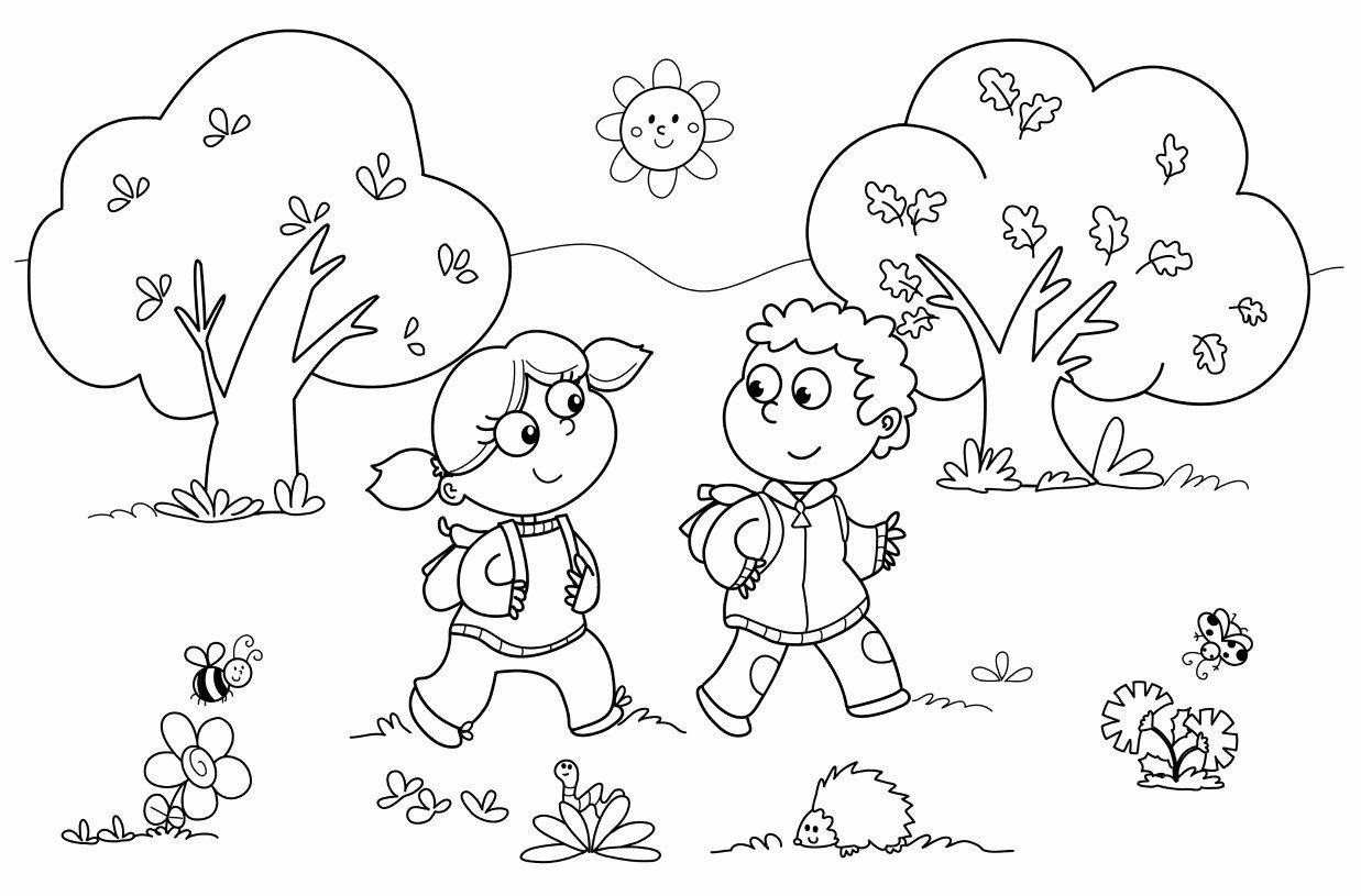 Nature Coloring Pages for Kindergarten Lovely Coloring