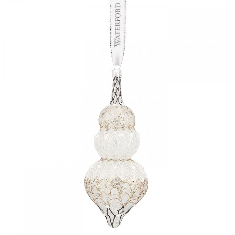Waterford Lace Chandelier Triple Spire Holiday Heirloom Ornament