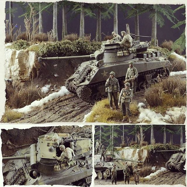 hurtgen forest germany winter 1945 diorama modeler. Black Bedroom Furniture Sets. Home Design Ideas