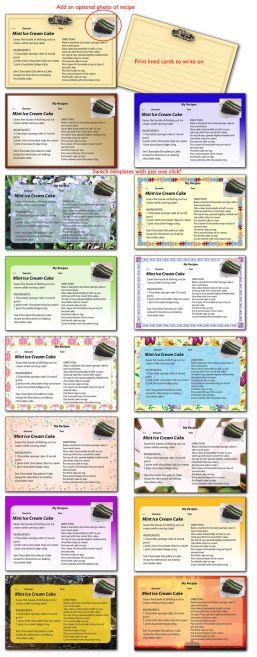 Recipe Card O Matic Recipe Cards Template Recipe Cards Printable Recipe Cards