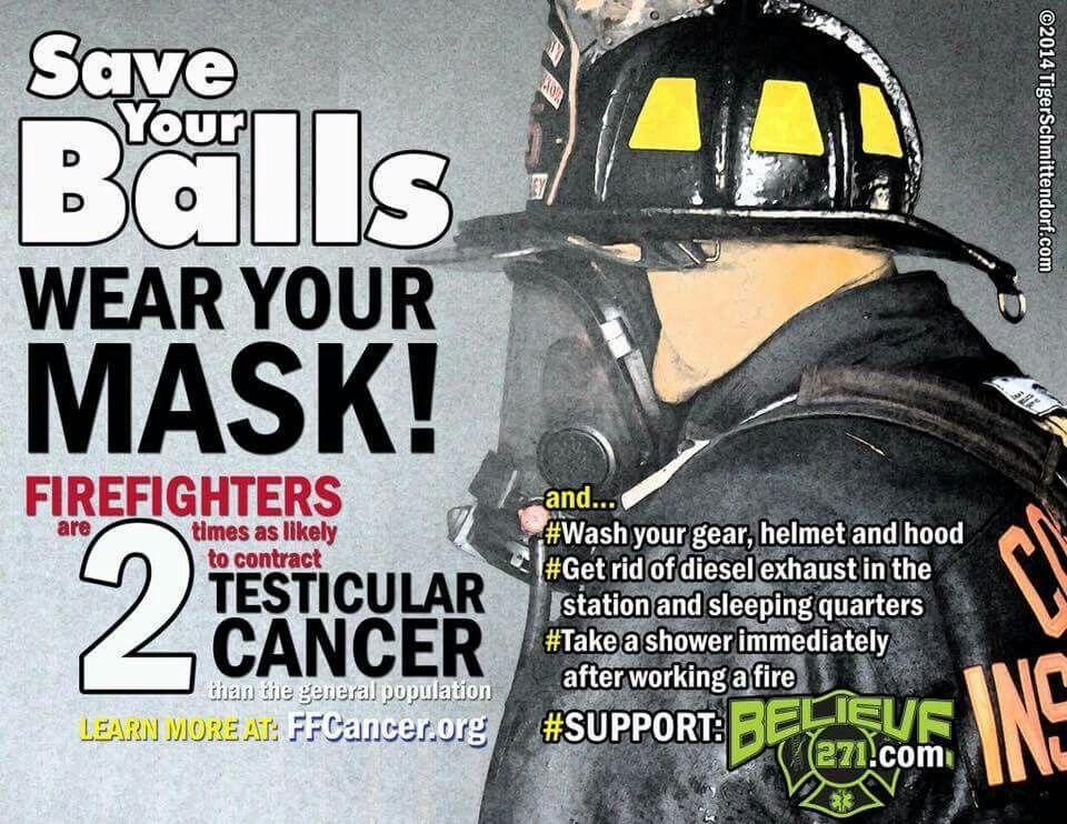 Save your balls! Helmet hood, Firefighter, Take a shower