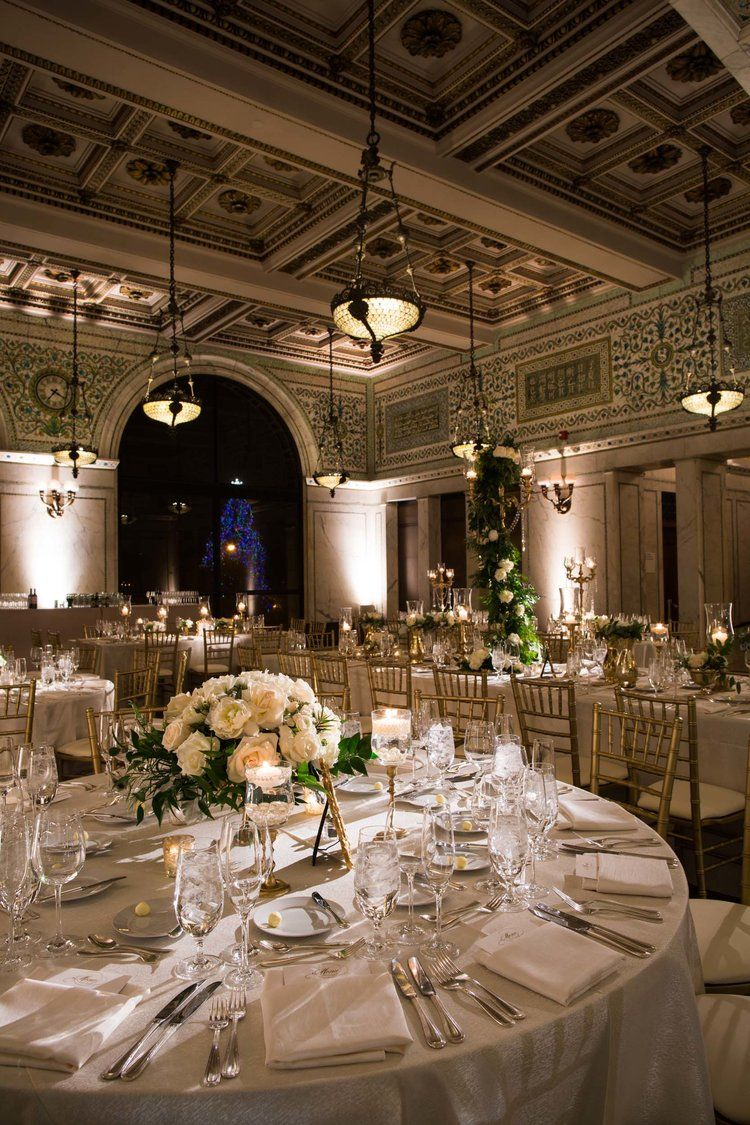 Winter Wedding at the Chicago Cultural Center Chicago