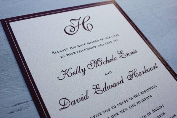 Typical Wedding Invitation Wording: Traditional Wedding Invitation Wording