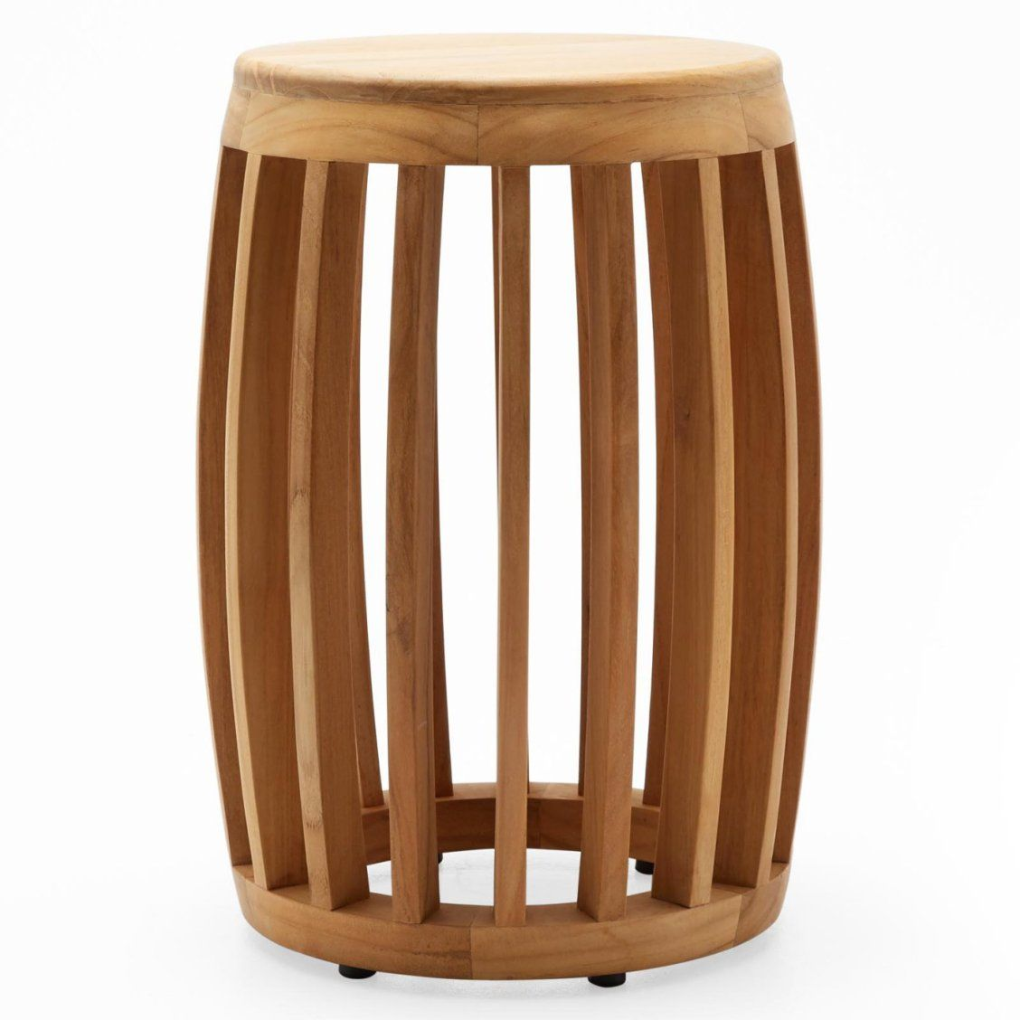 Modrn Teak Wood Slat Garden Stool In 2019 Wood Slats