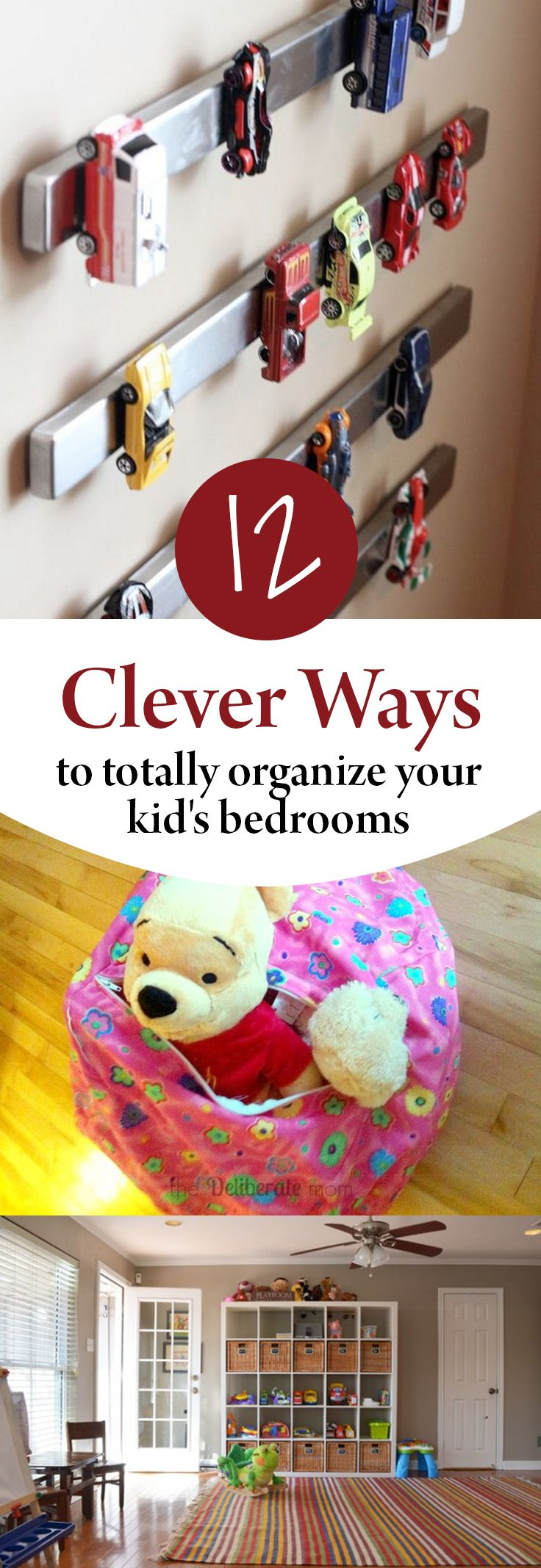 12 Clever Ways to Totally Organize Your Kid's Bedrooms is part of Kids bedroom Organization - How to organize your kids bedrooms
