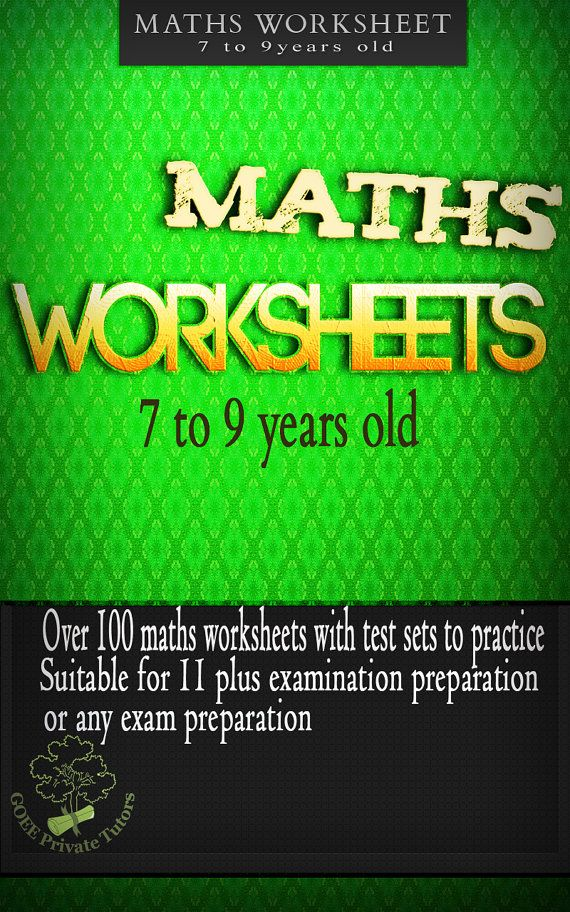 Maths workbook for age 7 to 9 years old. Over 90 Printable