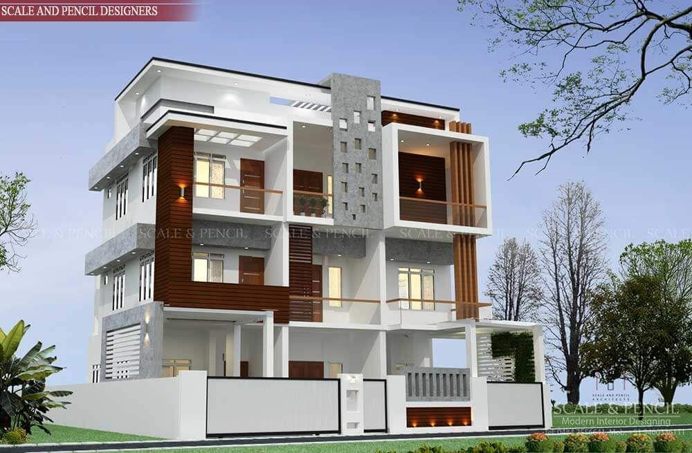 Elegant Modern 3d Exterior Home Designs Duplex House Design House Designs Exterior Home Design Images