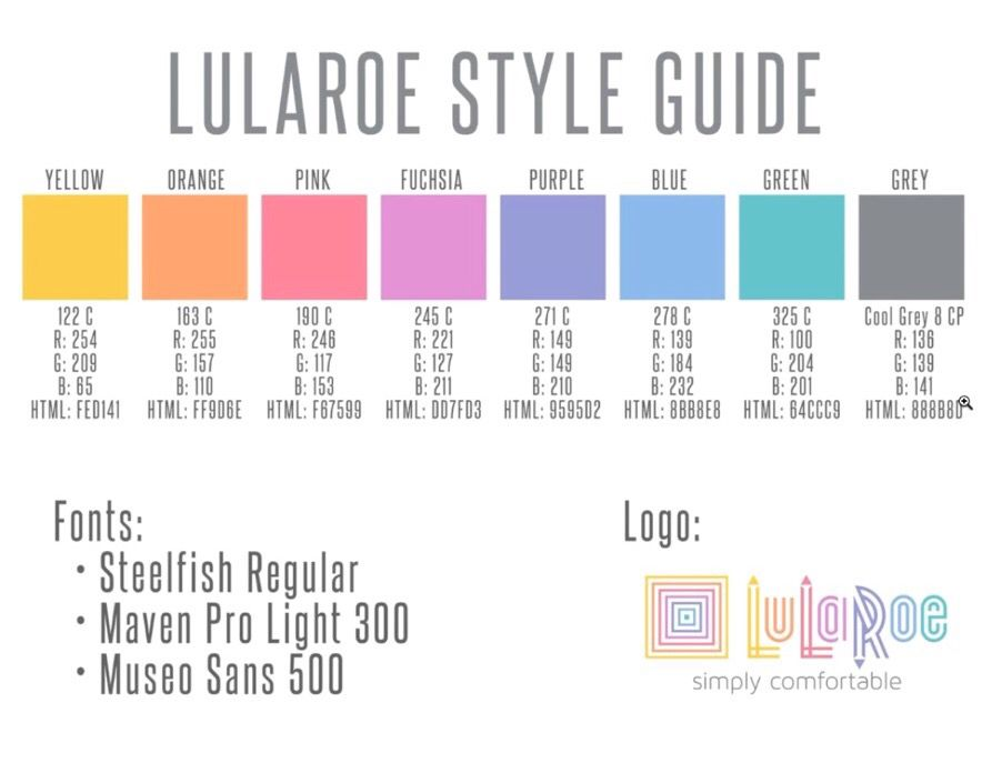 Llr Blue Color Chart  Lularoe    Colour Chart Blue