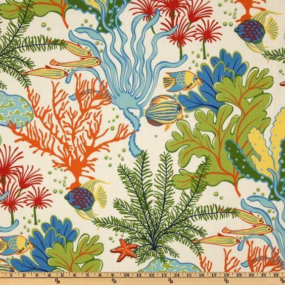 Swavelle Indoor Outdoor Splish Splash Atlantis Outdoor Fabric