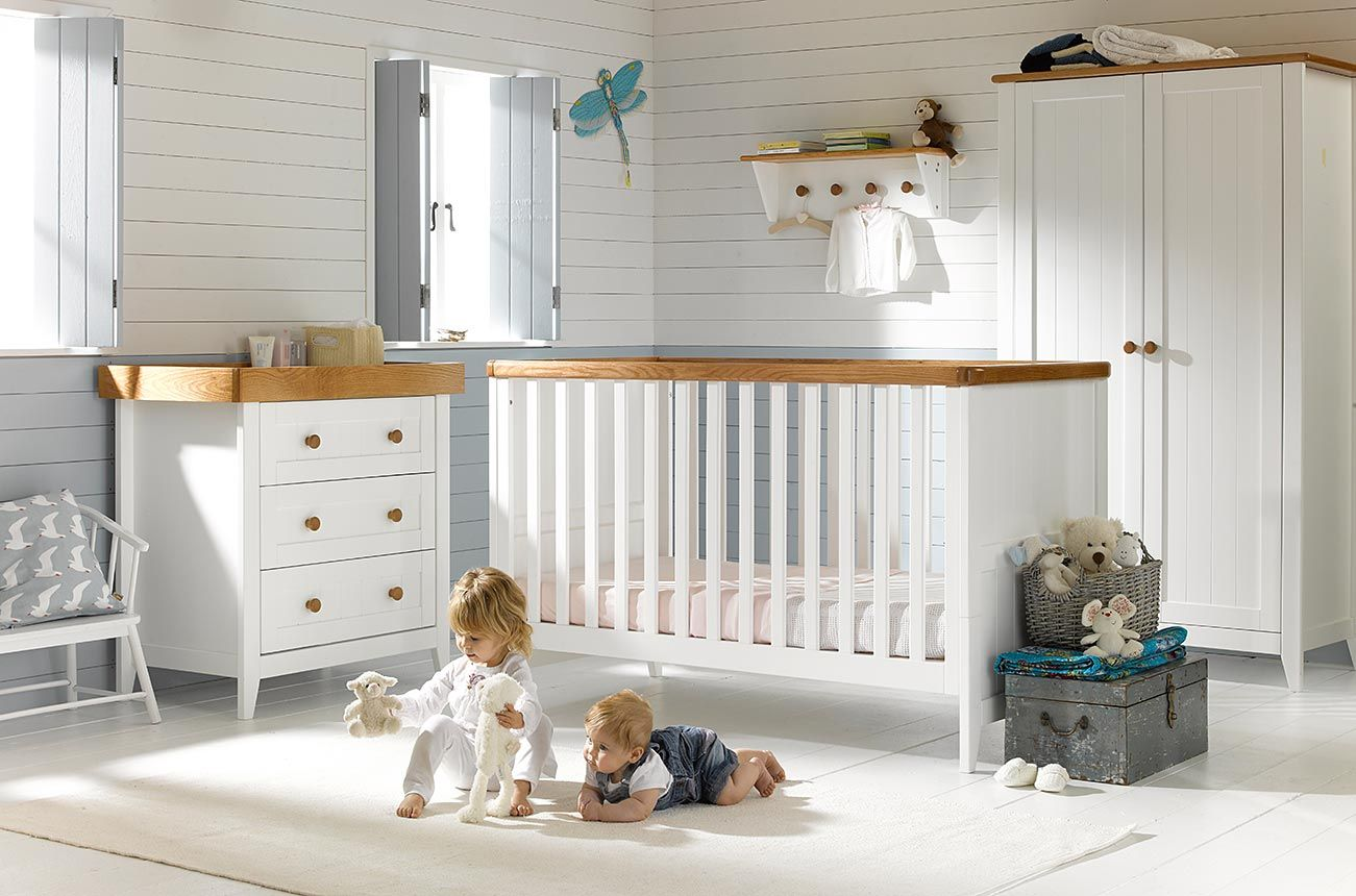 White Room Set Furniture Photography For The Mothercare Summer Oak White And Natural Wood Nurs Wood Nursery Nursery Furniture Sets White Nursery Furniture Sets
