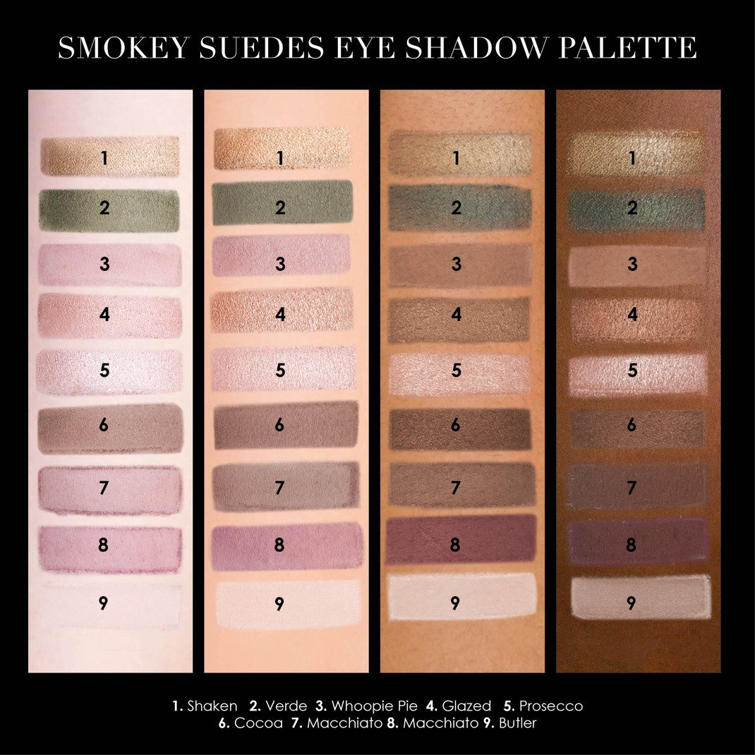 ab46edf489  OliviaPalermo  Ciate Smokey Suede Eye Palette swatches on the  Sephora  Beauty Board