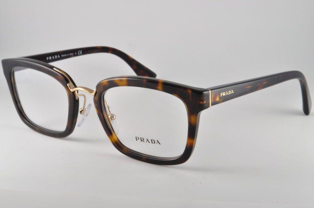 4b6ccf887b7 Prada Eyeglasses VPR 09S 2AU-1O1 Havana